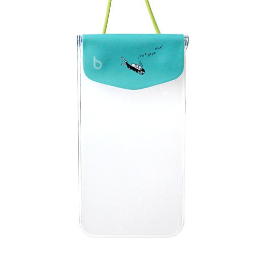 iPhone6/SE/5s/5 ケース bikit スマートフォン用ファッション防水ポーチ カジュアル アクアマリン_0