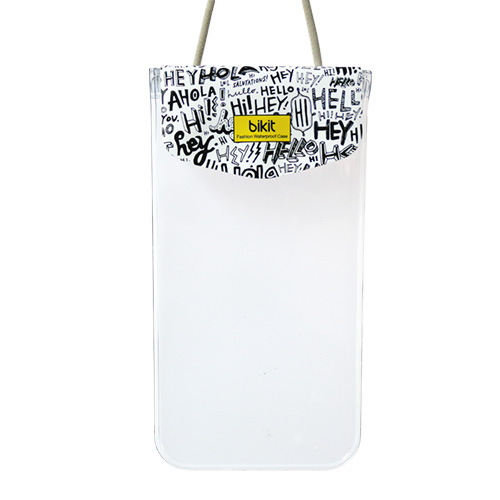 bikit スマートフォン用ファッション防水ポーチ カジュアル レター