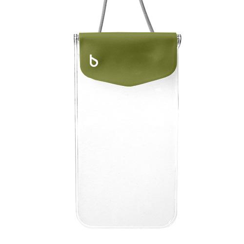 iPhone6/SE/5s/5 ケース bikit スマートフォン用ファッション防水ポーチ カジュアル カーキ_0
