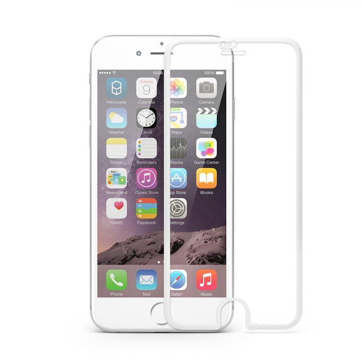 [0.4mm]液晶画面全面保護 強化ガラス PATCHWORKS ITG Edge ホワイト iPhone 6s/6