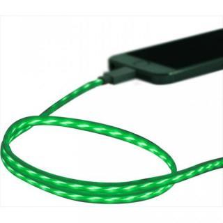 [80cm]イルミネーションLightningケーブル MFi認証品 グリーン/ホワイト