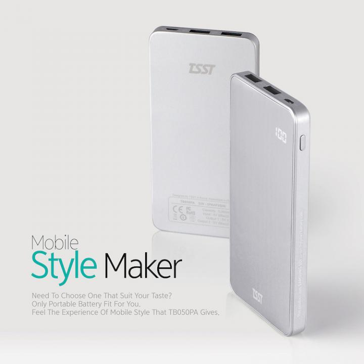 [5000mAh] TSST 充電残量を1%刻みで表示する モバイルバッテリー