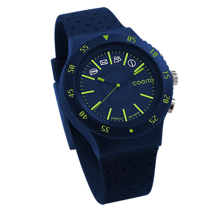 スマートフォン連動腕時計 COGITO POP ブルー 送料無料