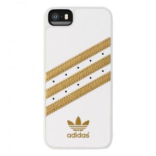 adidas Originals ケース ホワイト/ゴールド iPhone SE/5s/5