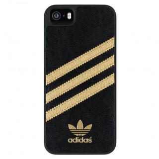 adidas Originals ケース ブラック/ゴールド iPhone SE/5s/5