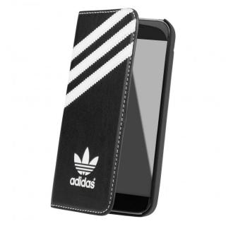 【iPhone SE/5s/5ケース】adidas Originals 手帳型ケース ブラック/ホワイト iPhone SE/5s/5