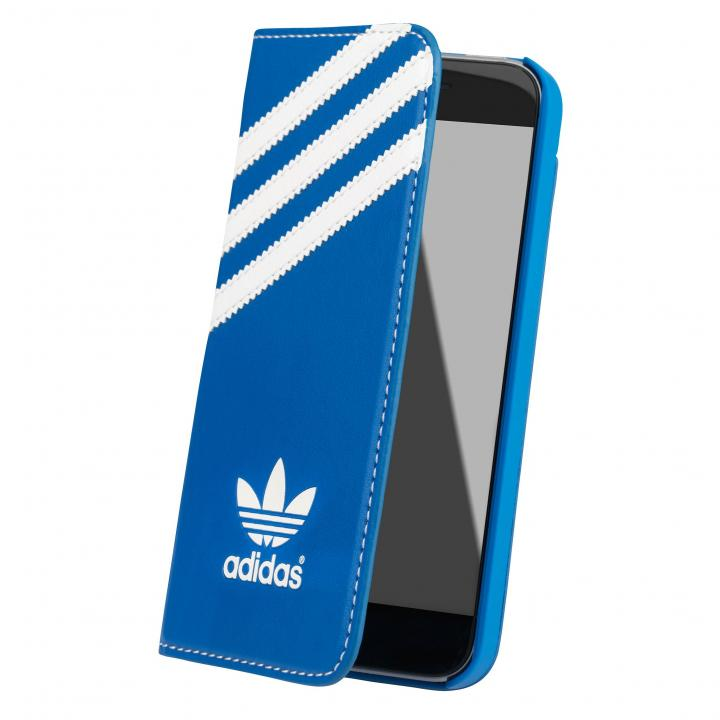adidas Originals 手帳型ケース ブルー/ホワイト iPhone SE/5s/5