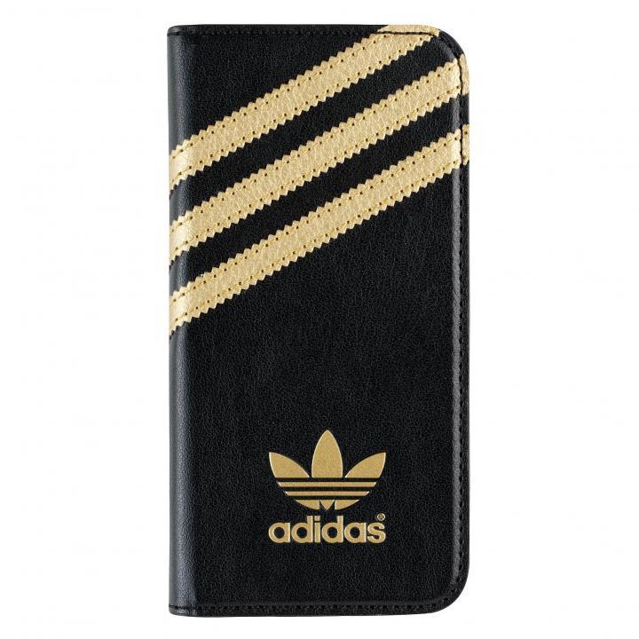 iPhone SE/5s/5 ケース adidas Originals 手帳型ケース ブラック/ゴールド iPhone SE/5s/5_0