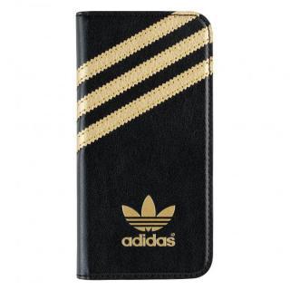【iPhone SE/5s/5ケース】adidas Originals 手帳型ケース ブラック/ゴールド iPhone SE/5s/5