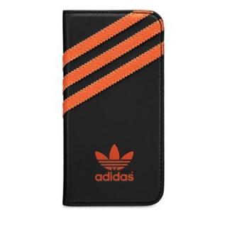 【iPhone SE/5s/5ケース】adidas Originals 手帳型ケース ブラック/オレンジ iPhone SE/5s/5