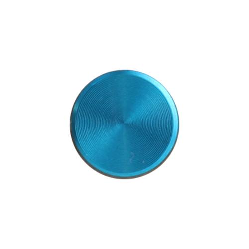 アルミ製のシンプルなホームボタンシール プレイン  Apple スカイブルー
