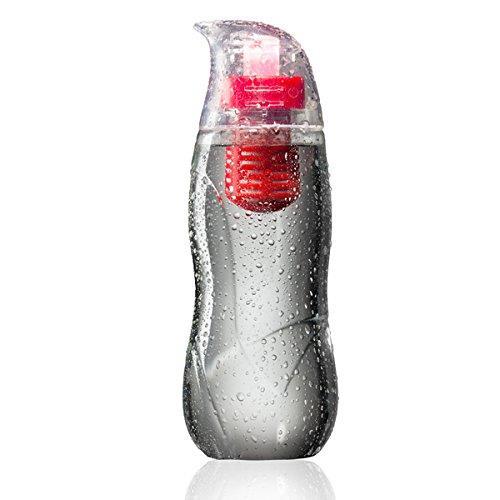 アルカリイオン化フィルター付きウォーターボトル Little Penguin レッド_0