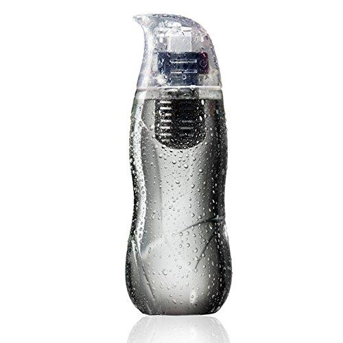 アルカリイオン化フィルター付きウォーターボトル Little Penguin ブラック_0