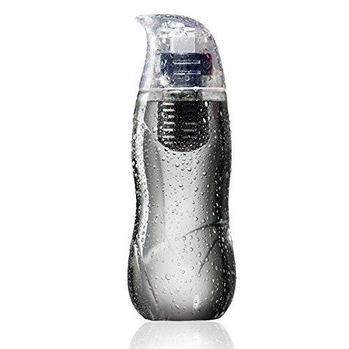 アルカリイオン化フィルター付きウォーターボトル Little Penguin ブラック