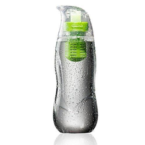 アルカリイオン化フィルター付きウォーターボトル Little Penguin グリーン_0