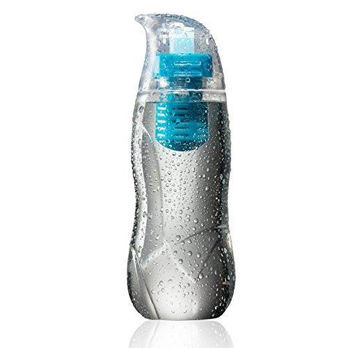 アルカリイオン化フィルター付きウォーターボトル Little Penguin ブルー_0