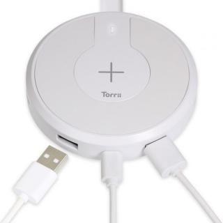 TorriiBolt USBハブ 急速Qiワイヤレス充電器(USB type C , type A対応 ) ホワイト