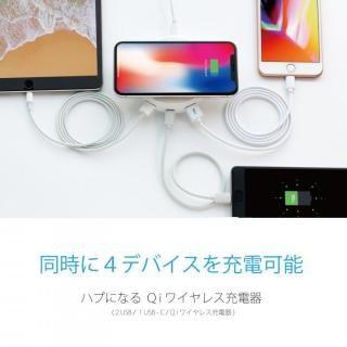 TorriiBolt USBハブ 急速Qiワイヤレス充電器(USB type C , type A対応 ) ホワイト_1