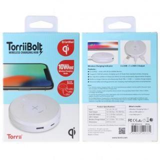 TorriiBolt USBハブ 急速Qiワイヤレス充電器(USB type C , type A対応 ) ホワイト_2