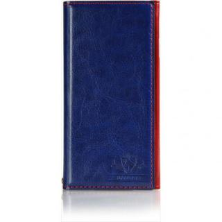 FLAMINGO PUレザー手帳型ケース ブルー iPhone 6s Plus/6 Plus