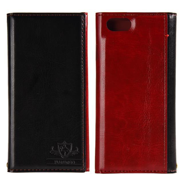iPhone6s/6 ケース FLAMINGO PUレザー手帳型ケース ブラック iPhone 6s/6_0