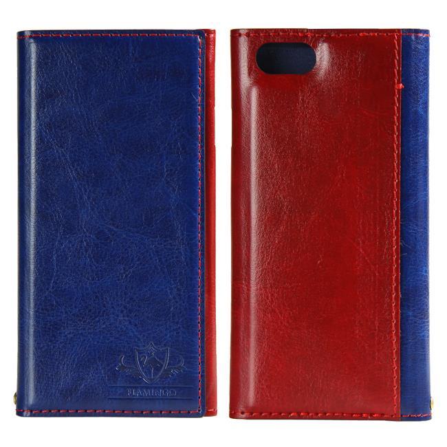 iPhone6s/6 ケース FLAMINGO PUレザー手帳型ケース ブルー iPhone 6s/6_0