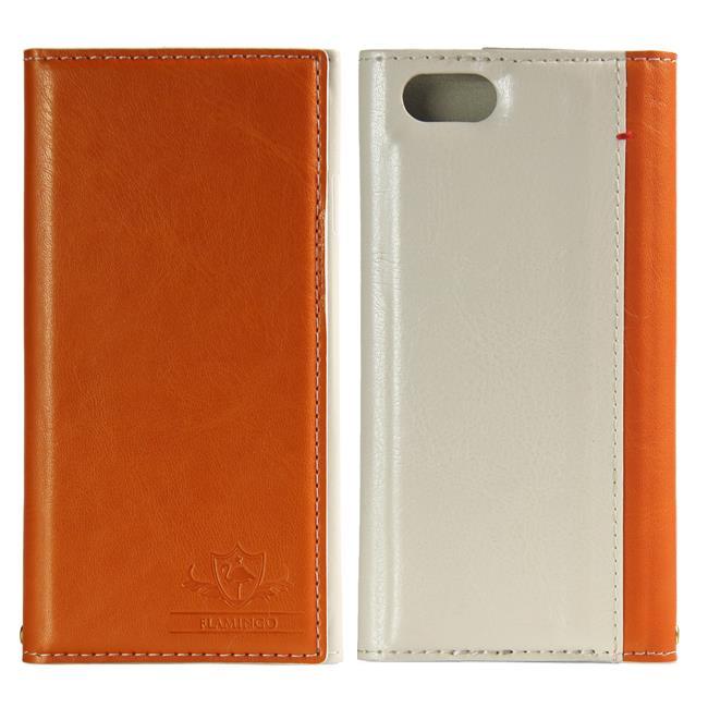 iPhone6s/6 ケース FLAMINGO PUレザー手帳型ケース オレンジ iPhone 6s/6_0