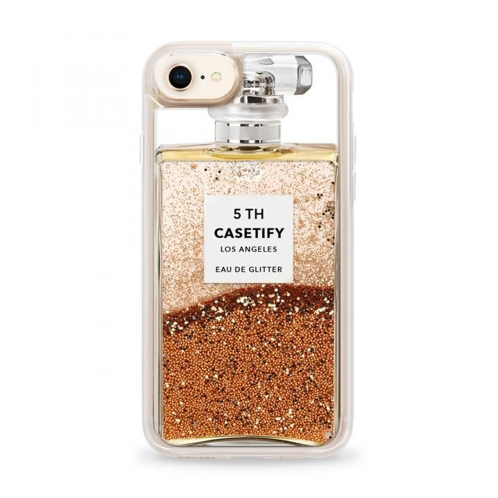 iPhone8/7 ケース CASETIFY MISS PERFUME2 GRITTER CASE グリッターケース GOLD iPhone SE 第2世代/8/7_0