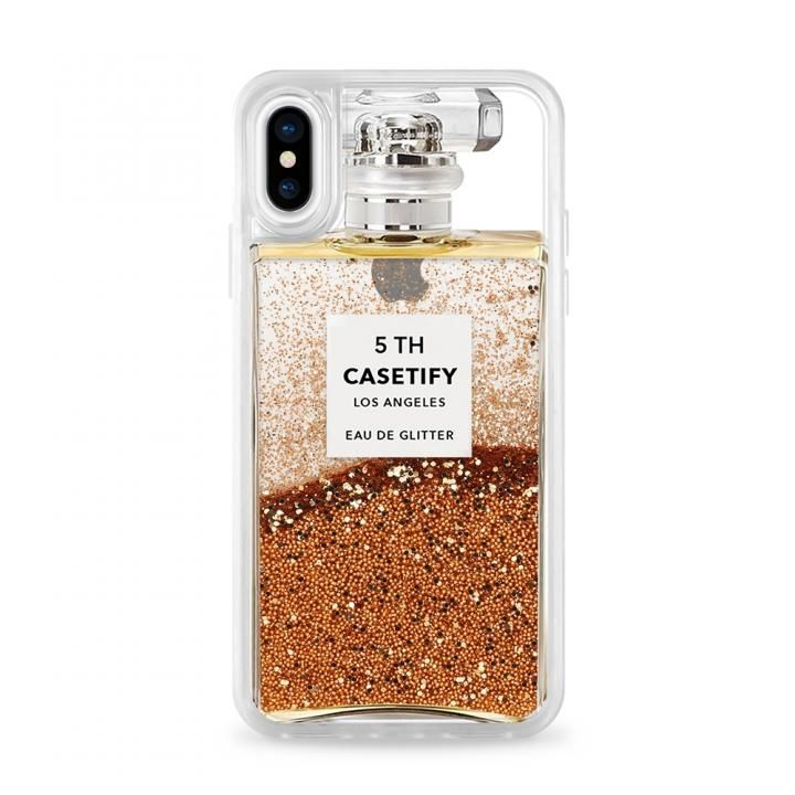 CASETIFY MISS PERFUME2 GRITTER CASE グリッターケース GOLD iPhone X【7月下旬】