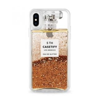 【iPhone X ケース】CASETIFY MISS PERFUME2 GRITTER CASE グリッターケース GOLD iPhone X【7月下旬】