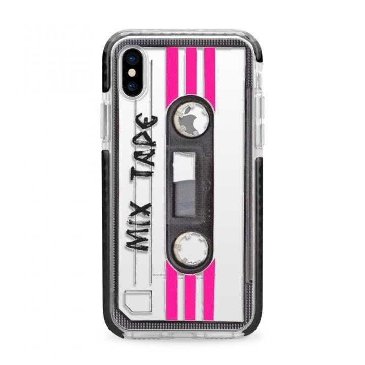 【iPhone Xケース】CASETIFY MIX TAPE TBT IMPACT CASE ハードケース BK iPhone X_0