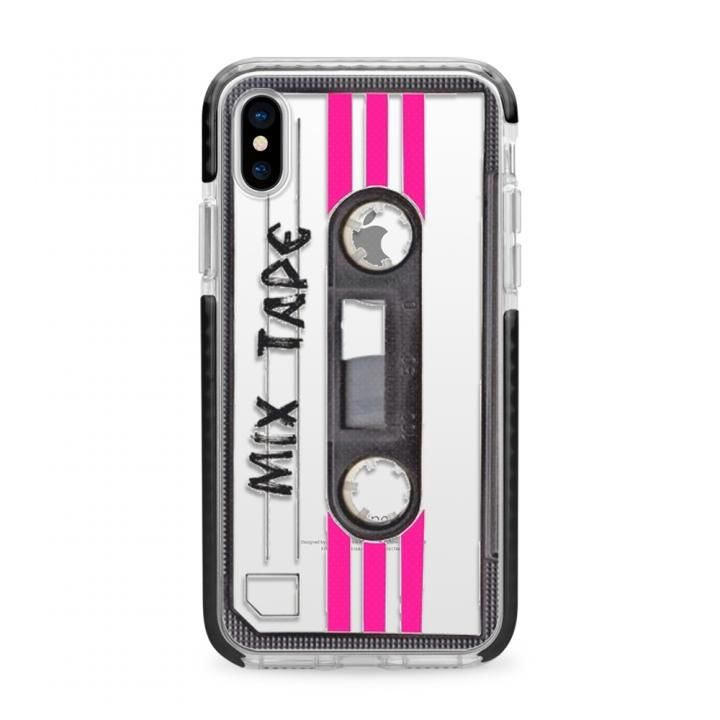【iPhone Xケース】CASETIFY MIX TAPE TBT IMPACT CASE ハードケース BK iPhone X_0