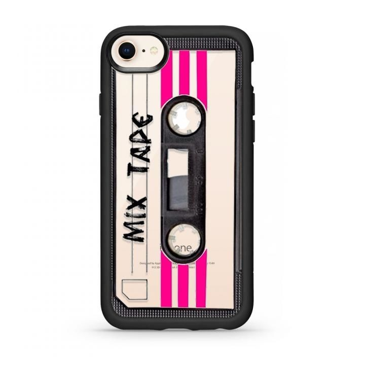 iPhone8/7 ケース CASETIFY MIX TAPE TBT GRIP CASE BK ハードケース iPhone SE 第2世代/8/7_0