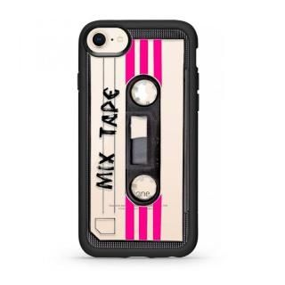 【iPhone8/7ケース】CASETIFY MIX TAPE TBT GRIP CASE BK ハードケース iPhone 8/7