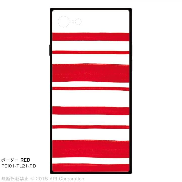 【iPhone8/7ケース】EYLE TILE ボーダー/レッド for iPhone 8/7_0