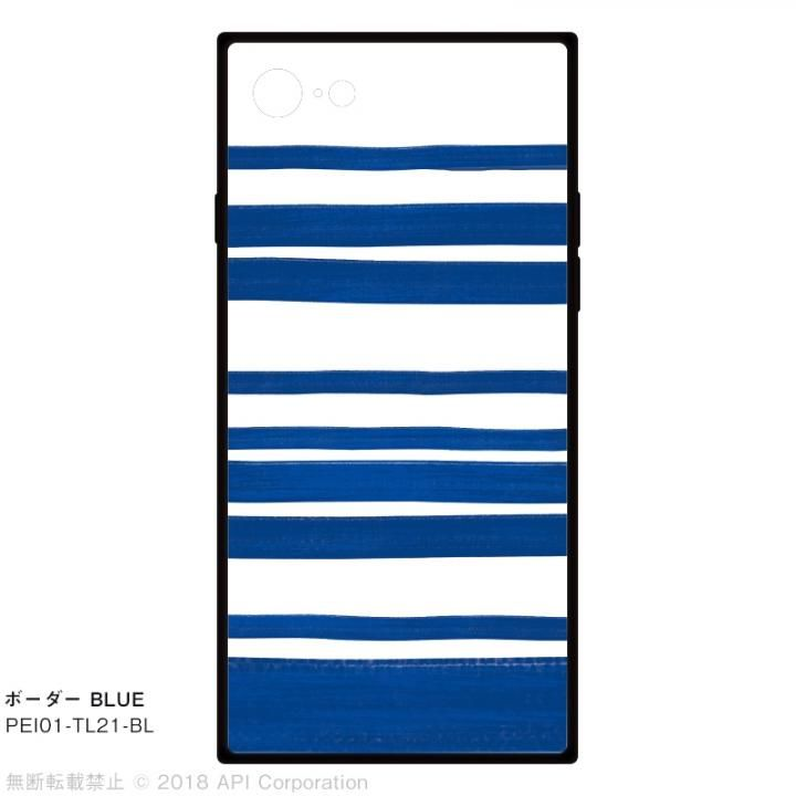 iPhone8/7 ケース EYLE TILE iPhoneケース ボーダー/ブルー iPhone SE 第2世代/8/7_0