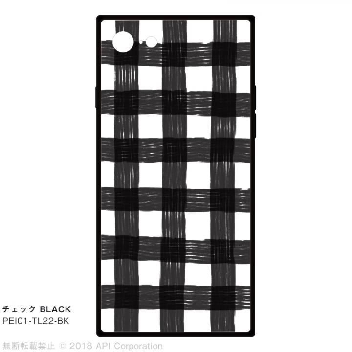 iPhone8/7 ケース EYLE TILE iPhoneケース チェック/ブラック iPhone SE 第2世代/8/7_0