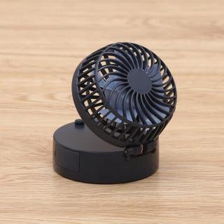 iFan Shell ストラップ付小型パワフルファン 2600mAhモバイルバッテリー ネイビー