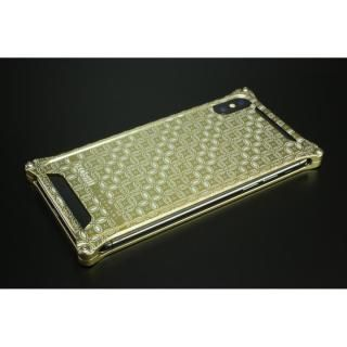 【iPhone X ケース】OKOSHI-KATAGAMI 【七宝】 シャンパンゴールド ソリッドバンパー iPhone X