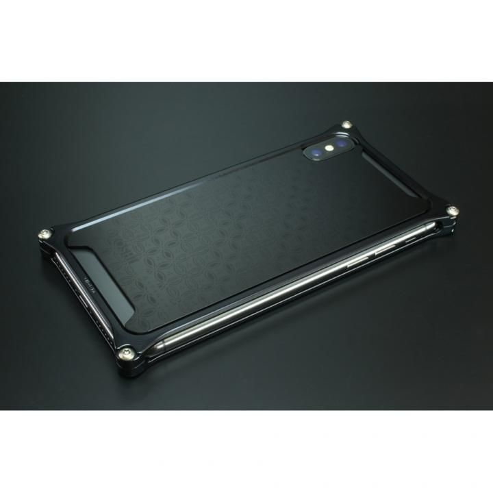 iPhone XS/X ケース OKOSHI-KATAGAMI 【七宝】 ブラック ソリッドバンパー iPhone XS/X_0