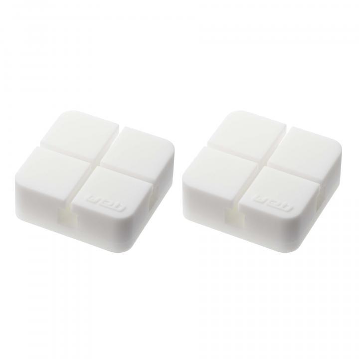 山崎実業 コードホルダー Sサイズ 2個組 ホワイト