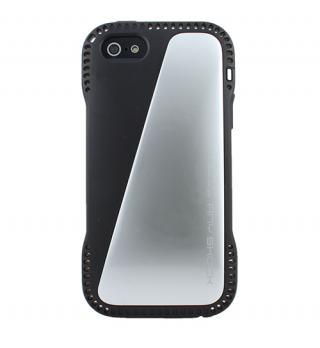 角からの衝撃を守るハイブリッドケース AnyShock シルバー iPhone SE/5s/5ケース