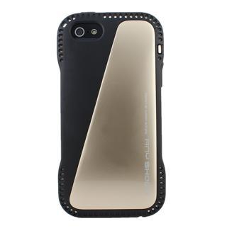 角からの衝撃を守るハイブリッドケース AnyShock ゴールド iPhone SE/5s/5ケース