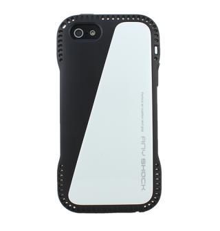 角からの衝撃を守るハイブリッドケース AnyShock ホワイト iPhone SE/5s/5ケース