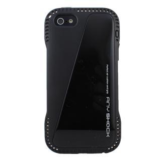 角からの衝撃を守るハイブリッドケース AnyShock ブラック iPhone SE/5s/5ケース