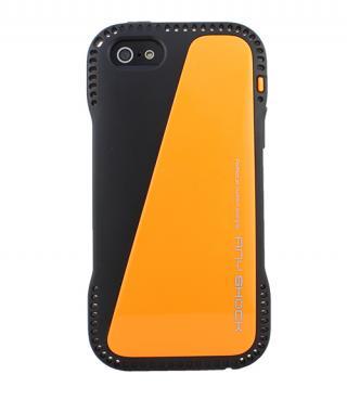 角からの衝撃を守るハイブリッドケース AnyShock オレンジ iPhone SE/5s/5ケース
