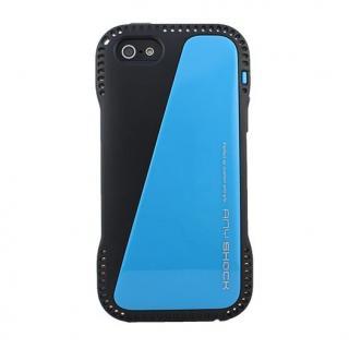角からの衝撃を守るハイブリッドケース AnyShock ブルー iPhone SE/5s/5ケース