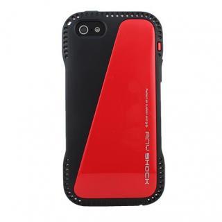 角からの衝撃を守るハイブリッドケース AnyShock レッド iPhone SE/5s/5ケース