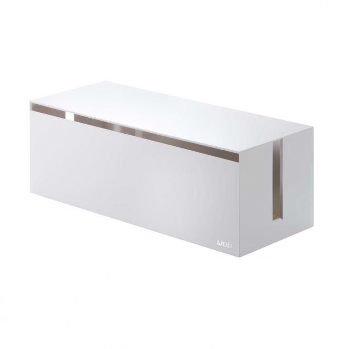 山崎実業 ケーブルボックス ホワイト
