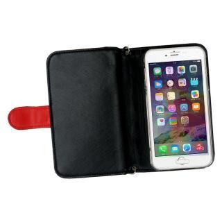 【iPhone6ケース】クラッチタイプ 手帳型ケース レッド iPhone 6_1